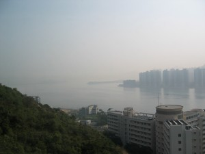 View from the guesthouse at CUHK