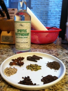 Spice mix for tangelo bitters