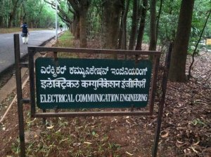 IISc ECE department sign