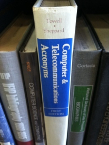Book spine: Computer and Telecommunications Acronyms