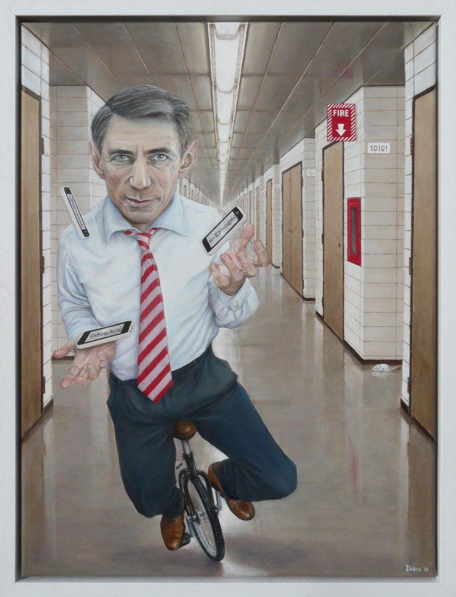 Claude Shannon, by Jan Hein van Dierendonck